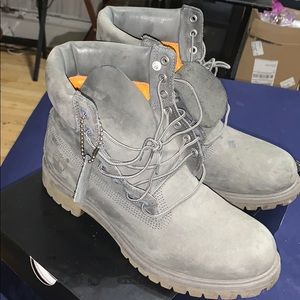 Timberlands 6 inch boot size 10.5 grey